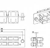 - Hyperline FO-FPM-W120H32-6DSC-BL
