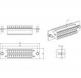 - Hyperline FO-FPM-W120H32-24LC-BL